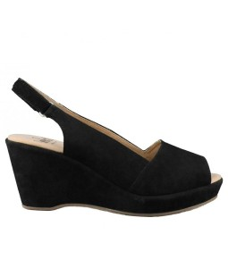 caprice-sandalen-zwart-suede